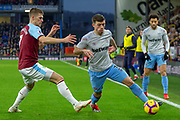 West Ham United defender Aaron Cresswell (3) during the Premier League match between Burnley and West Ham United at Turf Moor, Burnley, England on 30 December 2018.