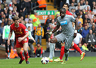 Moussa Sissoko of Newcastle United in action against Liverpool during the Barclays Premier League match at Anfield, Liverpool.<br /> Picture by Michael Sedgwick/Focus Images Ltd +44 7900 363072<br /> 11/05/2014