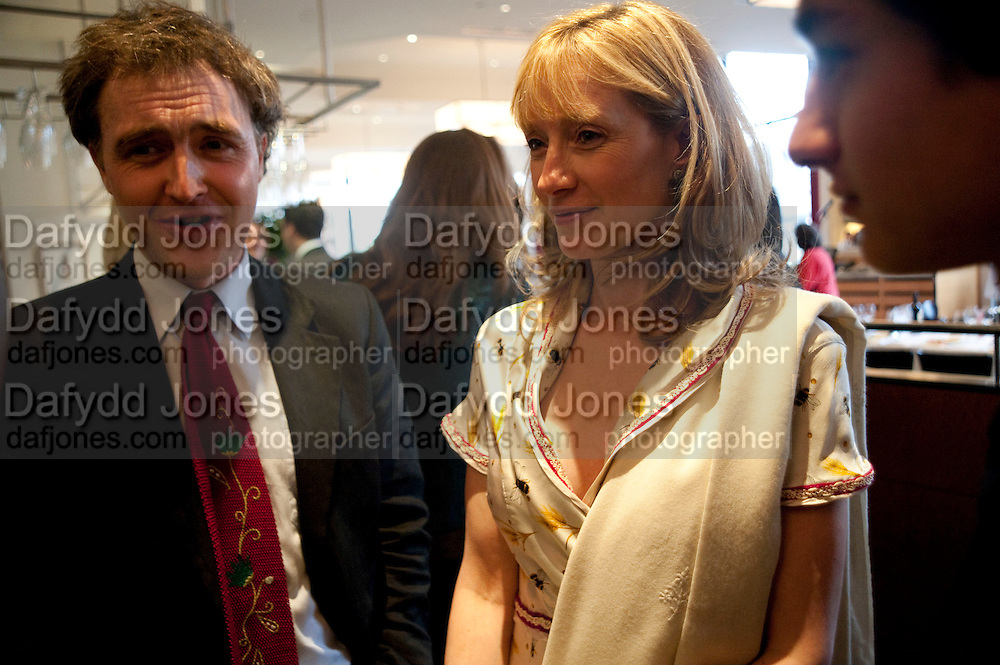 WILL FIENNES; ROS O'SHAUGHNESSY, Literary charity First Story fundraising dinner. Cafe Anglais. London. 10 May 2010. *** Local Caption *** -DO NOT ARCHIVE-© Copyright Photograph by Dafydd Jones. 248 Clapham Rd. London SW9 0PZ. Tel 0207 820 0771. www.dafjones.com.<br /> WILL FIENNES; ROS O'SHAUGHNESSY, Literary charity First Story fundraising dinner. Cafe Anglais. London. 10 May 2010.