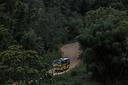 A bus brings students from rural neighbourhoods, many of them from official quilombos (former runaway slaves hamlets) around  Eldorado town, south of Sao Paulo, Brazil, Tuesday, Nov. 27, 2018. (Dado Galdieri)