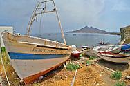 Alberto Carrera, Fishing Boats, Isleta del Moro Beach, Isleta del Moro, Cabo de Gata-Níjar Natural Park, Biosphere Reserve, Almería, Andalucia, Spain, Europe