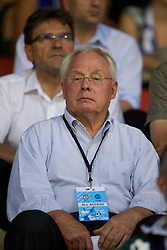 ZUG, SWITZERLAND - Wednesday, July 21, 2010: Liverpool's co-owner George N. Gillett Jr. watches his side in action against Grasshopper Club Zurich during the Reds' first preseason match of the 2010/2011 season at the Herti Stadium. (Pic by David Rawcliffe/Propaganda)