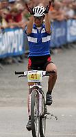 Sykkel , 20 August 2005 , Birkebeinerrittet ,<br /> UCI Mountain Bike Marathon , World Championships ,<br /> Lillehammer - Norway ,<br /> <br /> Pia Sundstedt , FIN , ble nr.5.