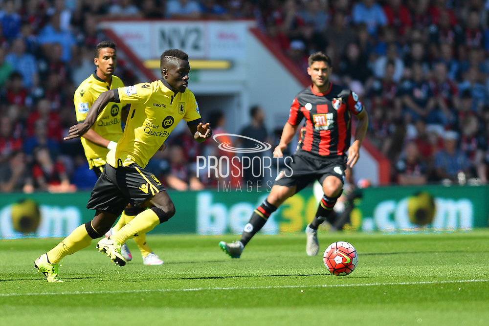Aston Villa's Micah Richards during the Barclays Premier League match between Bournemouth and Aston Villa at the Goldsands Stadium, Bournemouth, England on 8 August 2015. Photo by Mark Davies.