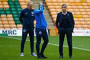 BrBrighton & Hove Albion manager Chris Hughton surveys the pitch during the EFL Sky Bet Championship match between Norwich City and Brighton and Hove Albion at Carrow Road, Norwich, England on 21 April 2017. Photo by Simon Davies.