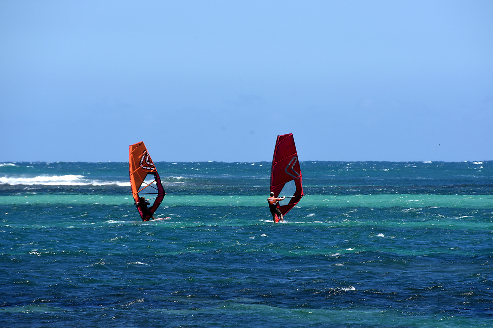 Windsurfers at lancelin Ocean Classic Series, Lancelin, WA, Australia
