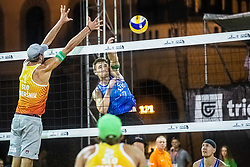 Blaz Jakopin of Slovenia at Beach Volleyball Challenge Ljubljana 2019, on August 4, 2019 in Kongresni trg, Ljubljana, Slovenia. Photo by Grega Valancic / Sportida