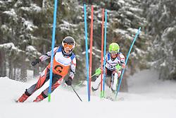 KREZEL Maciej Guide: OGARZYNSKA Anna, B3, POL at 2018 World Para Alpine Skiing World Cup slalom, Veysonnaz, Switzerland