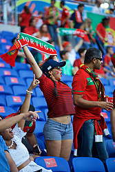 LYON, FRANCE - Wednesday, July 6, 2016: A Portugal supporter before the UEFA Euro 2016 Championship Semi-Final match against Wales at the Stade de Lyon. (Pic by David Rawcliffe/Propaganda)