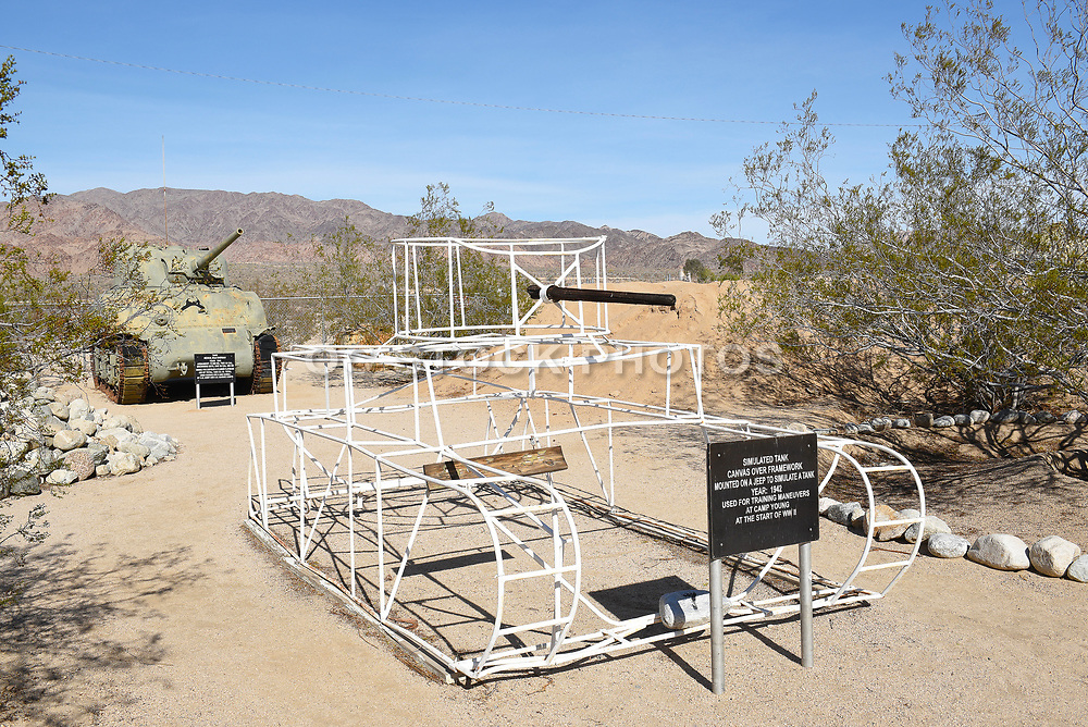 Simulated Tank Frame at the General George S. Patton Memorial Museum