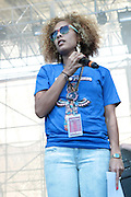 "June 2, 2012- Philadelphia, PA, United States: Media Personality/DJ/Actress Amanda Seales attend the 5th Annual ROOTS Picnic held at Festival Pier at Penn's Landing in Philadelphia, PA . The Roots is an American hip hop/neo soul band formed in 1987 by Tariq ""Black Thought"" Trotter and Ahmir ""Questlove"" Thompson in Philadelphia, Pennsylvania. They are known for a jazzy, eclectic approach to hip hop which includes live instrumentals. (Photo by Terrence Jennings)"