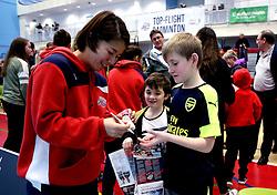 Mizuki Fuji of Bristol Jets signs autographs for fans - Photo mandatory by-line: Robbie Stephenson/JMP - 06/02/2017 - BADMINTON - SGS Wise Arena - Bristol, England - Bristol Jets v Surrey Smashers - AJ Bell National Badminton League