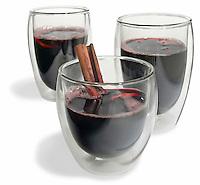 bodum glasses full of mulled wine