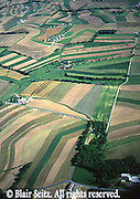 Aerial, farms, Lehigh Co., PA