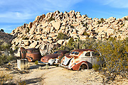 Junk Cars at Keys Ranch Joshua Tree National Park