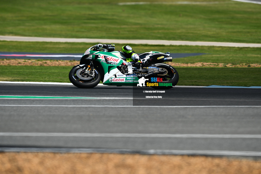 BURIRAM, THAILAND - OCTOBER 06: Cal Crutchlow (35) of England and LCR Honda CASTROL in Turn 12 during FP3 at the MotoGP PTT Thailand Grand Prix 2018, Chang International Circuit, Buriram, Thailand on October 06, 2018. <br /> .<br /> .<br /> .<br /> (Photo by: Naratip Golf Srisupab/SEALs Sports Images)<br /> .<br /> Any image use must include a mandatory credit line adjacent to the content which should read: Naratip Golf Srisupab/SEALs Sports Images