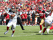 Nov 25, 2018; Tampa, FL, USA; Tampa Bay Buccaneers quarterback Jameis Winston (3) scrambles in the pocket against the San Francisco 49ers at Raymond James Stadium. The Buccaneers beat the 49ers 27-9. (Steve Jacobson/Image of Sport)