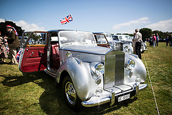 © Licensed to London News Pictures. 07/08/2016. Leeds UK. Picture shows a 1953 4.5 Ltr Rolls Royce Silver Dawn at the 37th Rolls Royce North rally that has taken place this weekend in the ground's of Harewood House in Yorkshire. The event bring's together some of the UK's most prized motor cars & their proud owners. Photo credit: Andrew McCaren/LNP