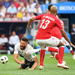 Olivier Giroud of France during the FIFA World Cup Group C match between Denmark and France at Luzhniki Stadium on June 26, 2018 in Moscow, Russia. (Photo by Anthony Dibon/Icon Sport)