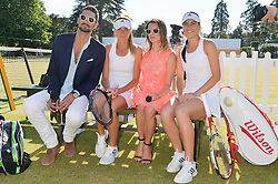 Left to right, HUGO TAYLOR, DANIELA HANTUCHOVA, JULIET ANGUS and SORANA CIRSTEA at the Summer Solstice Party during the Boodles Tennis event hosted by Beulah London and Taylor Morris at Stoke Park, Park Road, Stoke Poges, Buckinghamshire on 21st June 2014.