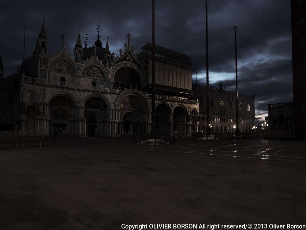 Basilica di San Marco, San Marco square - view by night