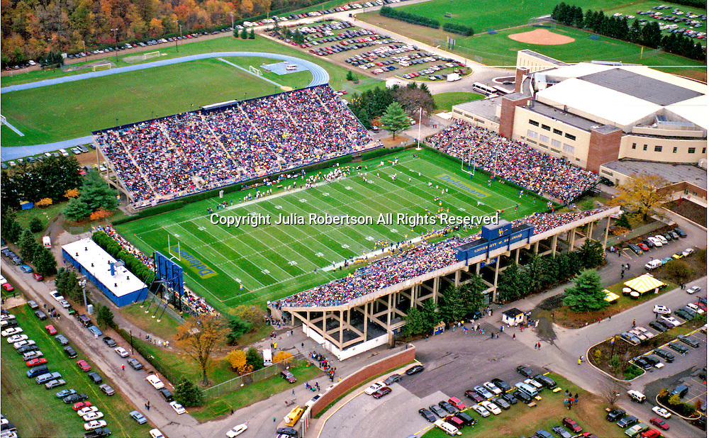 Aerial Photograph of the University of Delaware,.Football Stadium during a game