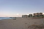 Vergine Maria beach was once the seat for fishing tuna, now the water is polluted and the landscape ruined by illegal buildings.<br /> la spiaggia di Vergine Maria, una volta sede di una tonnara, adesso ha il mare inquinato e la spiaggia devastata dall'abusivismo.