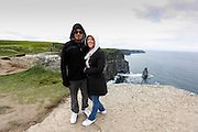 Alex and Julie Ann at The Cliffs of Moher in County Clare, Ireland on Friday June 21st 2013. (Photo by Brian Garfinkel)