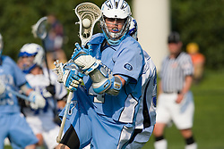 North Carolina attackman Billy Bitter (4) in action against Duke.  The #2 ranked Duke Blue Devils defeated the #12 ranked North Carolina Tar Heels 17-6 in the semi finals of the Men's 2008 Atlantic Coast Conference tournament at the University of Virginia's Klockner Stadium in Charlottesville, VA on April 25, 2008.