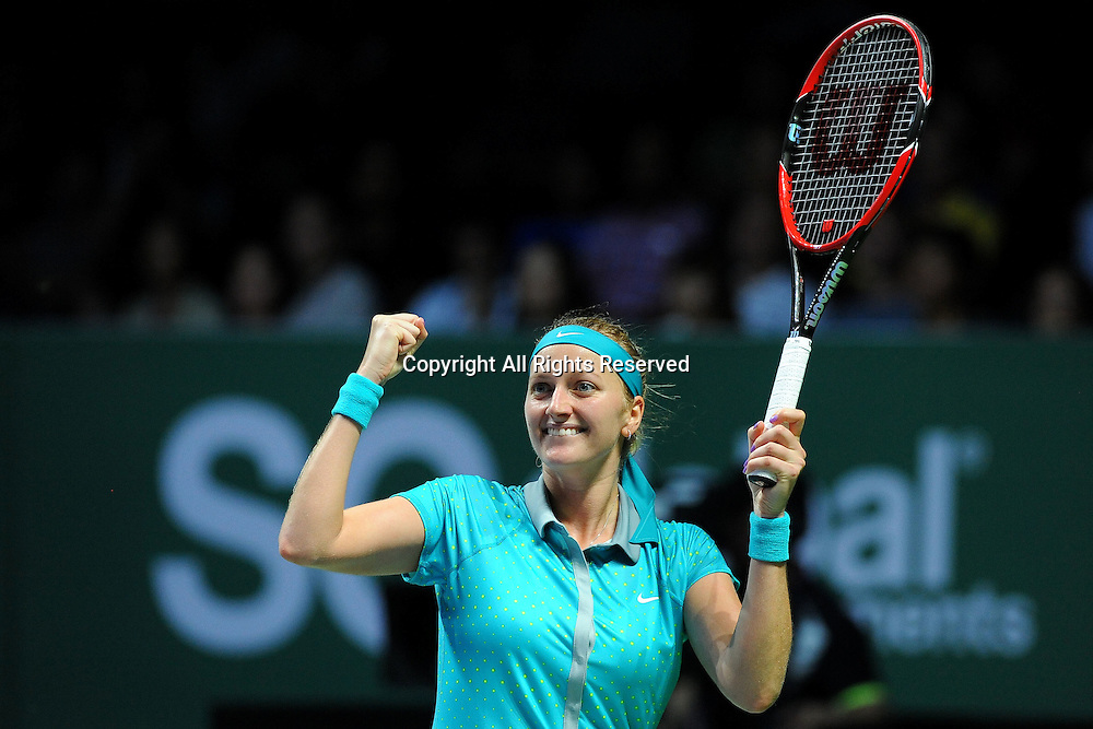 23.10.2014. Singapore. WTA Singapore Opens Tennis championships.   Petra Kvitova (CZE)