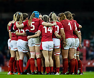 Wales team huddle at half time<br /> <br /> Photographer Simon King/Replay Images<br /> <br /> Friendly - Wales v Barbarians - Saturday 30th November 2019 - Principality Stadium - Cardiff<br /> <br /> World Copyright © Replay Images . All rights reserved. info@replayimages.co.uk - http://replayimages.co.uk