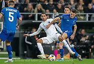 Carlos Zeca (FC København) og Volodymyr Shepeliev (Dynamo Kiev) under kampen i UEFA Europa League mellem FC København og Dynamo Kiev den 7. november 2019 i Telia Parken (Foto: Claus Birch / Ritzau Scanpix).