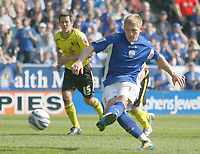 Photo: Steve Bond/Richard Lane Photography. Leicester City v Watford. Coca Cola Championship. 17/04/2010. Martyn Waghorn strokes home the opening penalty