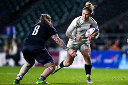 Sarah McKenna of England Women takes on Jade Konkel of Scotland Women - Mandatory by-line: Robbie Stephenson/JMP - 16/03/2019 - RUGBY - Twickenham Stadium - London, England - England Women v Scotland Women - Women's Six Nations