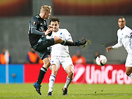 FOOTBALL: Donny van de Beek (Ajax Amsterdam) and William Kvist (FC København) during the UEFA Europa League round of 16, first leg, match between FC København and AFC Ajax at Parken Stadium, Copenhagen, Denmark on Marts 9, 2017. Photo: Claus Birch
