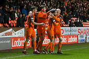 Paul McMullan of Dundee United is congratulated after scoring the opening goal - Dundee United v Dumbarton in the SPFL Championship at Tannadice, Dundee<br /> <br />  - &copy; David Young - www.davidyoungphoto.co.uk - email: davidyoungphoto@gmail.com