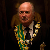 FIFA President Sepp Blater pose after receives the of First Class Grand Commander award from Sultan Ahmad Shah, president of Football Association Malaysia (FAM) at Royal Pahang Palace in Kuala Lumpur, Malaysia, 17 March 2011. Blatter has been as FIFA president since 1998 and seeking for his fourth term.
