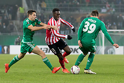 08.12.2016, Weststadion, Wien, AUT, UEFA EL, SK Rapid Wien vs Athletic Club Bilbao, Gruppe F, im Bild Thomas Schrammel (SK Rapid Wien), Inaki Williams (Athletic Club Bilbao), Maximilian Woeber (SK Rapid Wien) // during a UEFA Europa League, group F game between SK Rapid Wien and Athletic Club Bilbao at the Weststadion, Vienna, Austria on 2016/12/08. EXPA Pictures © 2016, PhotoCredit: EXPA/ Sebastian Pucher