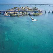 Aerial and ground views of Florida travel destinations.