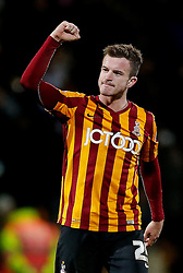 Goalscrer Andrew Halliday of Bradford City celebrates after his side win 4-0 to set up a match during at Chelsea in the 4th round - Photo mandatory by-line: Rogan Thomson/JMP - 07966 386802 - 14/01/2015 - SPORT - FOOTBALL - Bradford, England - Coral Windows Stadium - Bradford City v Millwall - FA Cup Third Round Replay.