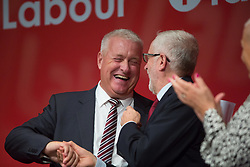 @Licensed to London News Pictures 21/09/2019. Brighton, UK. Mr Ian Lavery the Chairman of the Labour Party addresses the party faithful on the first day of the Labour Party Conference in Brighton today. Photo credit: Manu Palomeque/LNP