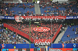 11.09.2010, Imtech Arena, Hamburg, GER, 1.FBL, Hamburger SV vs 1.FC Nuernberg, im Bild Feature die Nuernberger Fans unterstuetzen ihre Mannschaft  EXPA Pictures © 2010, PhotoCredit: EXPA/ nph/  Witke+++++ ATTENTION - OUT OF GER +++++