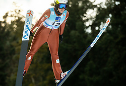 Oceane Gros Avocat of France soaring through the air during 1st Round at Day 1 of World Cup Ski Jumping Ladies Ljubno 2019, on February 8, 2019 in Ljubno ob Savinji, Slovenia. Photo by Matic Ritonja / Sportida