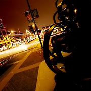 Kansas City's Plaza Lights, wide angle photo at intersection of Wornall and Ward Parkway at night.