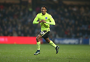 Brighton striker, Rajiv van La Parra (27) celebrates his goal during the Sky Bet Championship match between Queens Park Rangers and Brighton and Hove Albion at the Loftus Road Stadium, London, England on 15 December 2015.