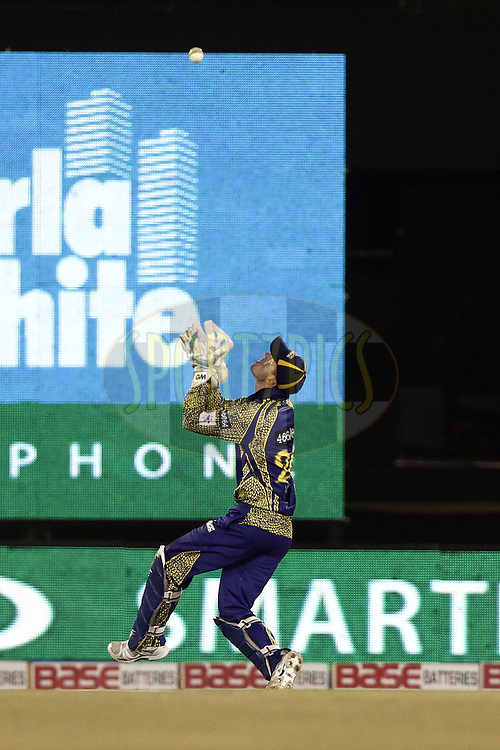 Scott Styris of the NORTHERN KNIGHTS caught by Dane Vilas of Cape Cobras during match 3 of the Oppo Champions League Twenty20 between the Cape Cobras and the Northern Knights held at the Chhattisgarh International Cricket Stadium, Raipur, India on the 19th September 2014<br /> <br /> Photo by:  Deepak Malik / Sportzpics/ CLT20<br /> <br /> <br /> Image use is subject to the terms and conditions as laid out by the BCCI/ CLT20.  The terms and conditions can be downloaded here:<br /> <br /> http://sportzpics.photoshelter.com/gallery/CLT20-Image-Terms-and-Conditions-2014/G0000IfNJn535VPU/C0000QhhKadWcjYs