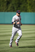 ANAHEIM, CA - AUGUST 21:  Jason Kipnis #22 of the Cleveland Indians warms up before the game against the Los Angeles Angels of Anaheim on Wednesday, August 21, 2013 at Angel Stadium in Anaheim, California. The Indians won the game 3-1. (Photo by Paul Spinelli/MLB Photos via Getty Images) *** Local Caption *** Jason Kipnis