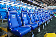 The Aston Villa dugout, before the EFL Sky Bet Championship match between Cardiff City and Aston Villa at the Cardiff City Stadium, Cardiff, Wales on 2 January 2017. Photo by Andrew Lewis.