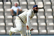 Amar Virdi of Surrey bowling during the Specsavers County Champ Div 1 match between Hampshire County Cricket Club and Surrey County Cricket Club at the Ageas Bowl, Southampton, United Kingdom on 11 June 2018. Picture by Graham Hunt.