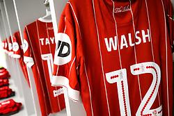 New Signing Luke Walsh's shirt hangs in the Bristol City away dressing room - Rogan/JMP - 09/01/2018 - Etihad Stadium - Manchester, England - Manchester City v Bristol City - Carabao Cup Semi Final First Leg.